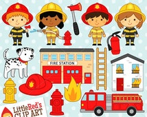 Firefighter Clipart and Lineart - personal and commercial use