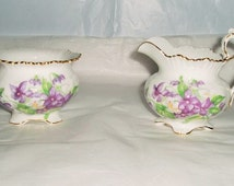 Aynsley china- Aynsley china cream and sugar dish- vintage creamer and sugar dish- Aynsley fine bone china- floral china set- Aynsley floral