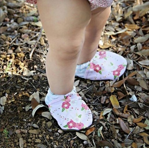 floral stripe baby shoes pink and blue newborn shoes baby