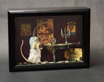 Fortune Teller Gypsy Taxidermy Mouse Diorama