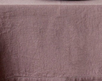 Dyed Ashes of Roses Linen Fabric 245 g/m2