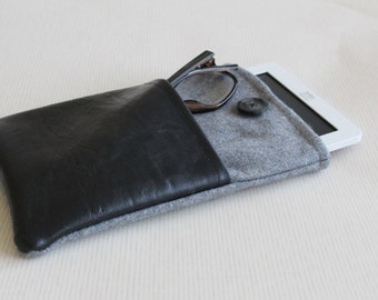 E reader sleeve, kindle cover, kindle sleeve, kobo case, e reader cover, fabric sleeve for kindle, paperwhite cover, vegan leather