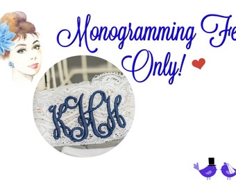 Monogramming Fee Only!