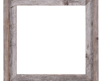 "12x12 –2"" wide Barnwood Reclaimed Wood Open Frame (No Glass or Back)"