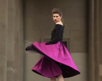 Mel Skirt - Fuisha  Ultra Versatile Midi Skit with Pleats and Pockets