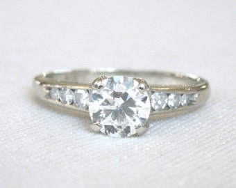 Elegant 0.65ct Diamond Solitaire in White Gold