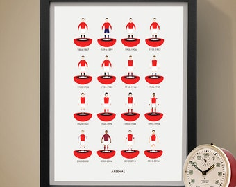 Arsenal Football Club Print, Football Poster, Football Print, Football Gift