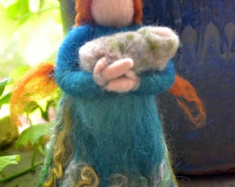 Waldorf Inspired needle felted Mother nature