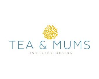 Premade Logo: Tea & Mums (and optional shop branding sets)