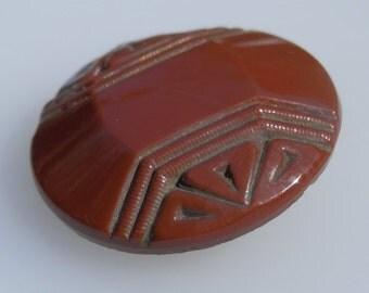 Vintage Glass Art Deco Button