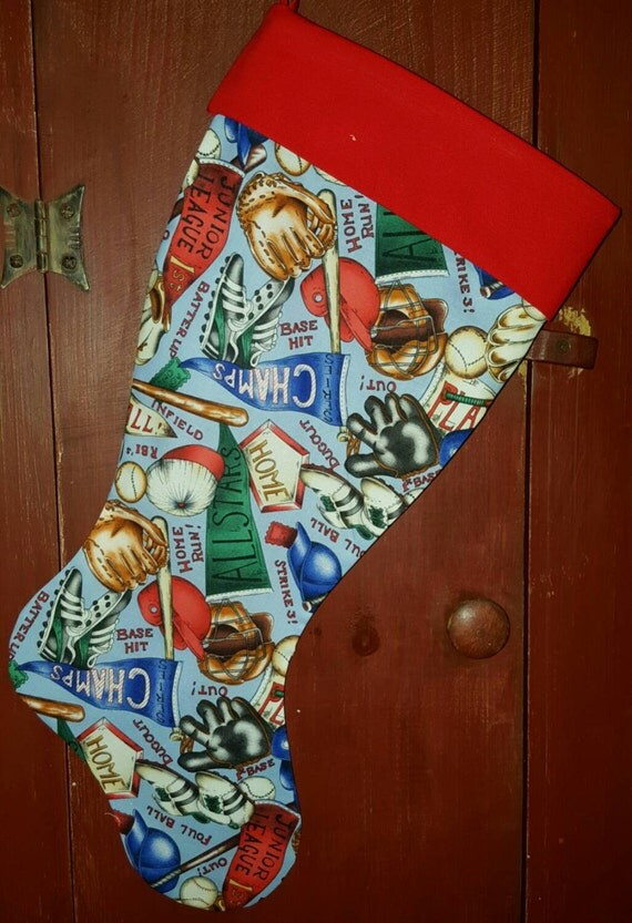 Baseball Christmas Stocking