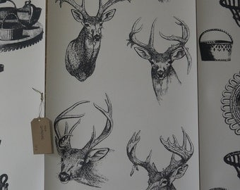 Stags Head Wallpaper