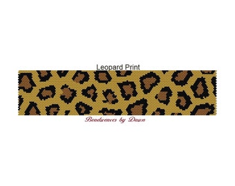 Peyote Bracelet Patterns, Beading Instructions, Peyote instructions, Leopard Print, Bead Patterns, Beadwork Patterns, Peyote Stitch patterns