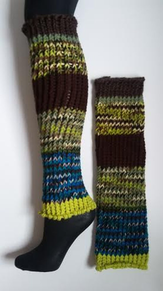 SALE 50% OFF Retail Price Knitted Leg Warmers Ice