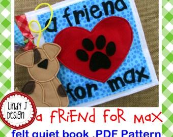 A Friend for Max QUIET BOOK .Pdf PATTERN