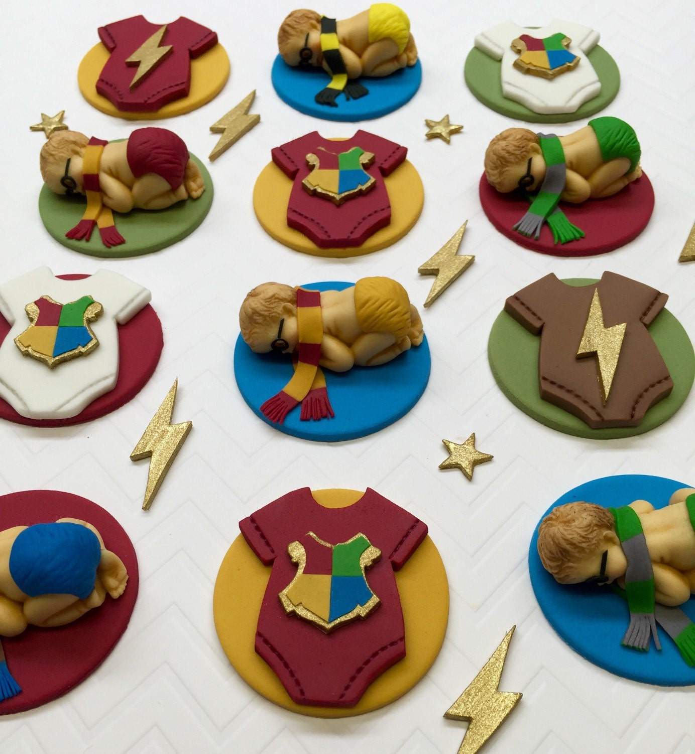 Fondant Edible Cupcake Toppers Baby Shower by CherryBayCakes