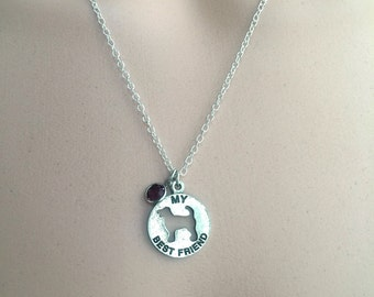 Dog Charm Necklace, Silver Dog Necklace, Pet Dog Lover Jewelry Gift, Stocking Stuffer Teen Girl Jewelry Gifts