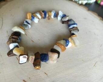 Multi-Gemstone Stretch Bracelet