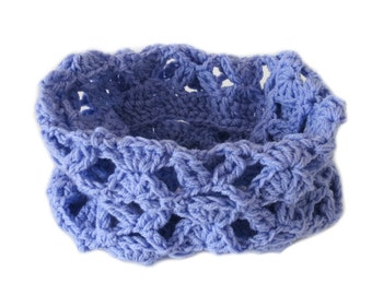 Violet Crochet Neck Warmer - Violet Crochet Cowl Scarf - Unique Handmade Winter Scarf