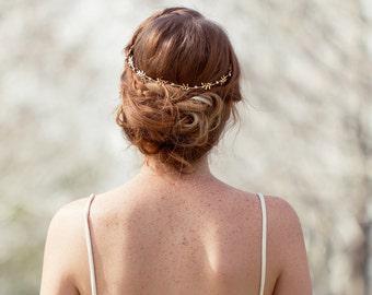 Gold Bridal Leaf Tiara ,Bridal Leaf Headband ,Bridal Leaf Crown Wedding Tiara Wedding Headband Wedding Crown Woodland Wedding Accessories