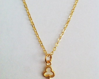 Gold plated necklace with key pendant