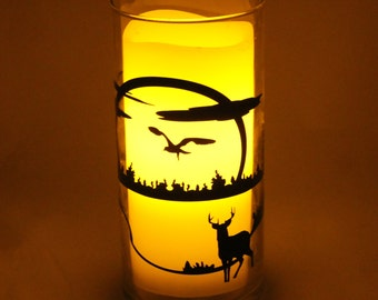 Nature Scenes Candle Holder