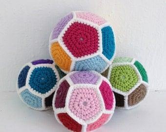 Soft hand-crocheted football