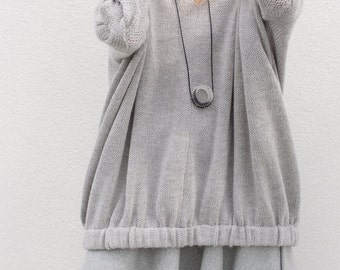 Sweaters | Women's sweaters | wool sweater | oversized sweater | minimalist sweater | handmade sweater | gray sweater | handmade cable knit