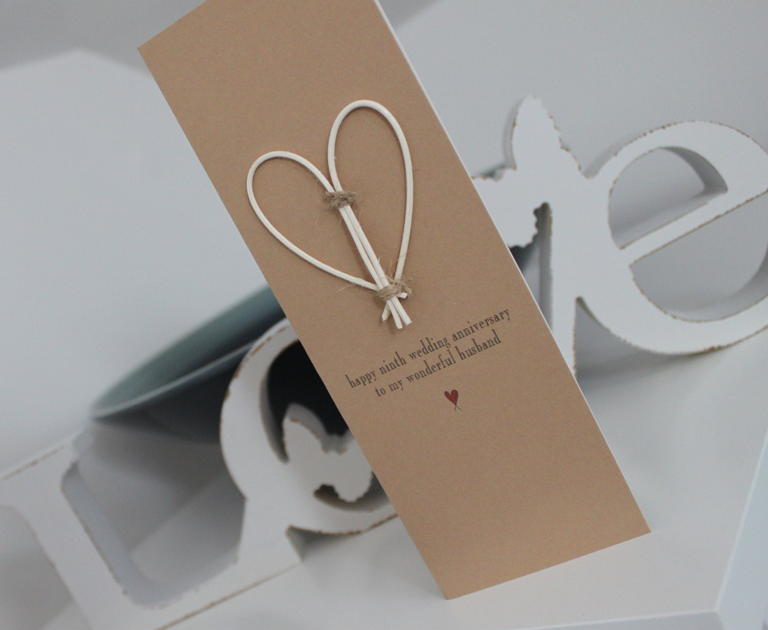 9th Wedding Anniversary Gifts For Husband: Happy 9th Wedding Anniversary Husband / Wife Card Ninth