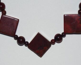 Necklace Red Jasper #616