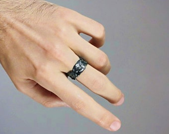 Valentine's Day| Special offer prices| promo price| Ring Dark asteroid| silver ring| unisex ring| ladie's ring| men's ring| dari jewelry