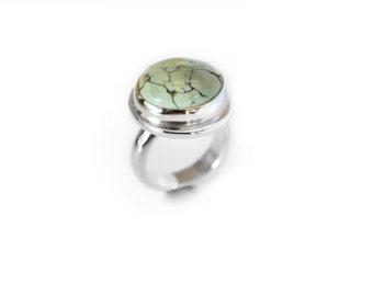 Candelaria Variscite Ring.  Candelaria Variscite and Sterling Silver Ring.