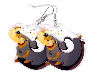 Cute Dachshund Earrings, dachshund jewelry, Dog lover, Dachshund gift, Weiner dog, hot dog, kawaii, cute animals, cute dogs, funny gift