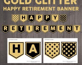 Retirement banner | Etsy