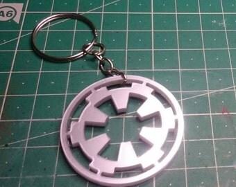 Keychain Pendant Necklace -  star wars Imperial logo dark side