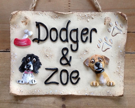 Personalised Dog Kennel Sign