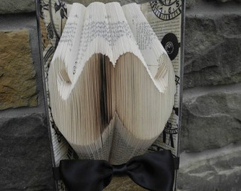Old Time Mustache Hand Folded Book