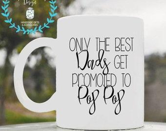 Grandpa mug, pop pop, pregnancy announcement