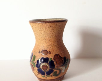 MEXICAN FOLK ART  Vase, Clay pottery, classic southwest style, clay pottery jug, jar, vase rustic primitive decor