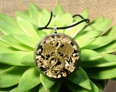 Dragon Orgonite Pendant with Gold and Black Tourmaline - EMF Protection and Energy Healing Organite Jewelry - Orgone Necklace  - Large
