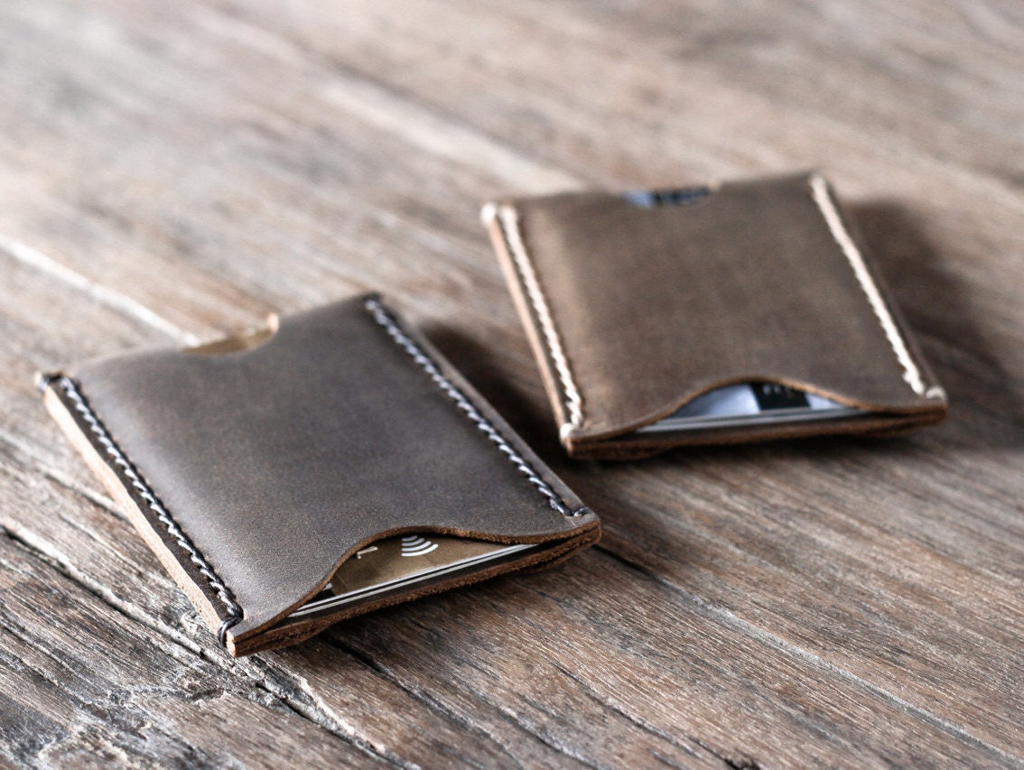 Wallet Leather Sleeve Card Wallet Business Card Holder by