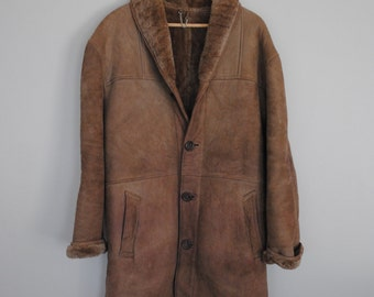 SUMMER SALE!! // Vintage Shearling Coat / Handmade in Argentina / Size 48 - Approximately Women's Size 8