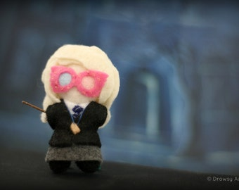 Loony Lovegood plush felt doll -- Officially Unofficial Harry Potter art figurine