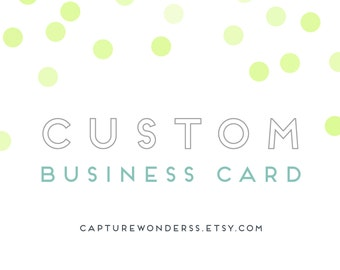 Graphic Design   Custom Business Card Design   Business Card   Custom Graphic Design   Card Design