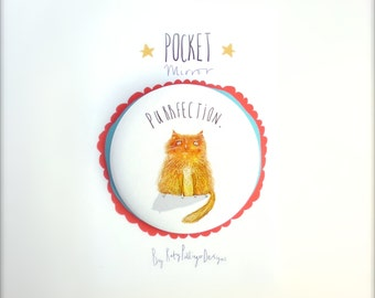 Purrfection Cat Pocket Mirror