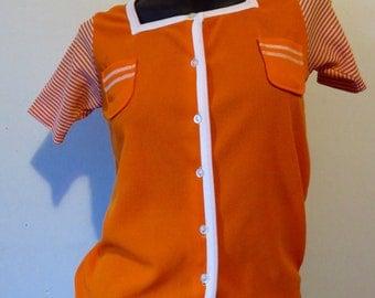 Orange 60's Mod Top
