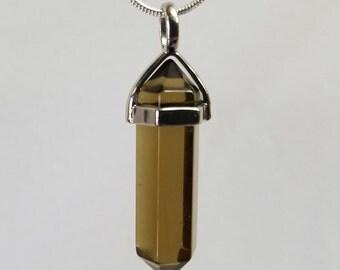 Smoky Quartz, Pendant, Gemstone, Point, Crystal Necklace, jewelry, necklace, crystal, jewelry necklace, pendant necklace,crystal pendant,gem