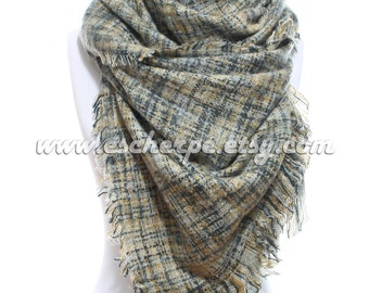 Tweed Oversized Cozy Warm Men Women Scarf Winter Accessories Men Fashion Accessories Scarves Valentine's Day Gift Ideas For Him For Her