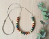 Multicolour naturally dyed beads - simple and organic