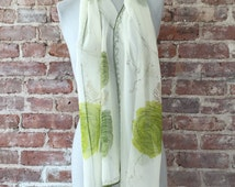 "1950s Long 64"" Sheer Rayon Scarf - NOS Unworn Condition - Head Scarf - Beach Driving Scarf - Festival Scarf - Floral Scarf - Perfect Gift"